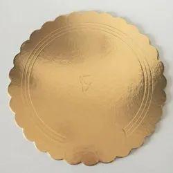 7 Inch Gold Cake Base Board