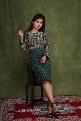 Embroidered Net Celebrity Dresses & Green Carpet Dress