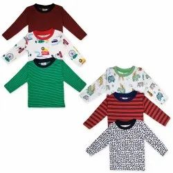 Unisex Casual Wear Cotton T-shirt for kids Full Sleeves