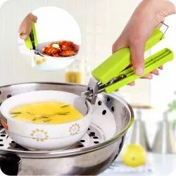 Stainless Steel Home Kitchen Anti-Scald Plate Take Bowl Dish Pot Holder Carrier Clamp Clip Handle
