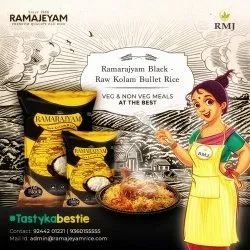 Golden Ramarajyam Black - Raw Kolam Bullet Rice, Packaging Size: 25kg