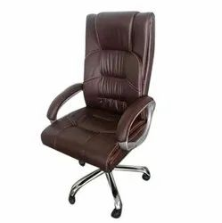 Leatherette Revolving Office Chair, Brown