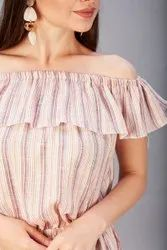 Ladies Cotton Off Shoulder Tops