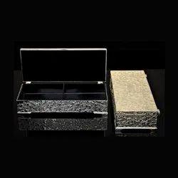 Rectangle 2 Partition Silver Box