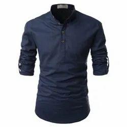 Men Kurta Style Cotton Shirt
