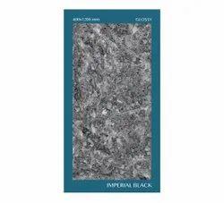 Imperial Black Ceramic Floor Tile, Glossy, 600x1200mm
