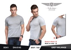 Plain 15+ Round Neck 180 GSM Biowash T Shirt