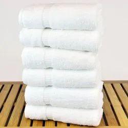Plain Decor Decor White Cotton Towel, 600 gm, Size: 30x60 Inches