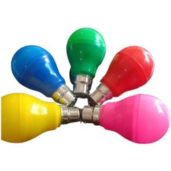 Ceramic Round 9 Watt Colored LED DOB Bulb, For Home, Base Type: B22