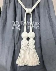 Natural Macrame Tassel Curtain Tie Back
