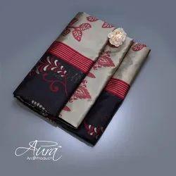 Gota Work Multicolor Kanya Silk Saree, With blouse piece, 5.5 m (separate blouse piece)