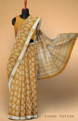 Ladies Party Wear Printed Cotton Saree, 5.5 m