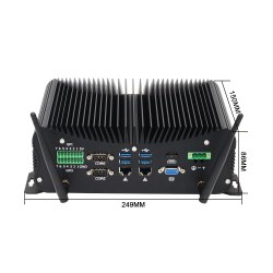 Fanless Embedded Box PC with Core i7 CPU