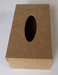 Brown Wooden Mdf Tissue Holder