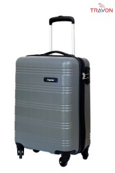 GREY ABS Luggage Trolley Bag, Size: 55CM