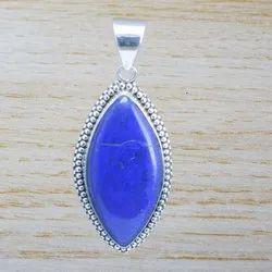 Sterling Silver Handmade Jewelry Lapis Lazuli Gemstone Ppendant