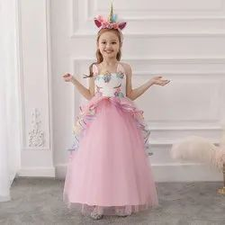 Party Wear Pink Unicorn Princess Gown
