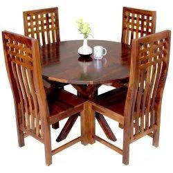 5 Pieces Sheesham Wooden Dining Table, For Home