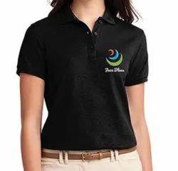Female Cotton Ladies Corporate T Shirts