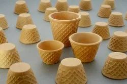 Brown Edible Cones Cups, Capacity: 100 ML, Packet Size: 120