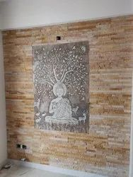 Brown Natural Stone Mural, For Wall Cladding