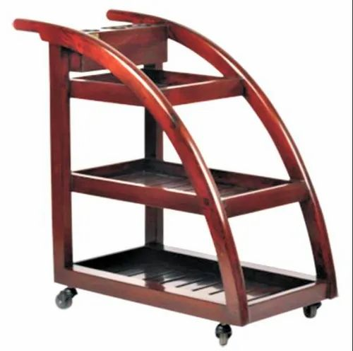 Curving Wooden Trolley