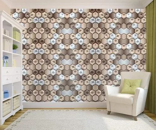 Matte 3d Wallpaper For Interior Decor Purposes Rs 1000 Roll Id 22968318697
