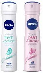Nivea Deodorant, Fresh Comfort, Women, 150ml And Nivea Deodorant, Pearl & Beauty, Women, 150ml