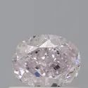 Oval 0.50ct Very Light Pink SI1 GIA Certified Natural Diamond