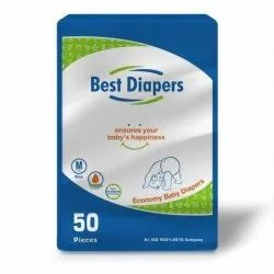 Best Diapers Cotton Economy Baby Diaper Pant, Age Group: 3-12 Months, Packaging Size: 5 Pieces