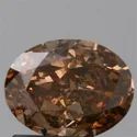 Oval 1.21ct SI1 Fancy Orange Brown GIA Certified Natural Diamond