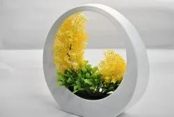 White Home Decoration Plastic Artificial Flower, Packaging Type: Box