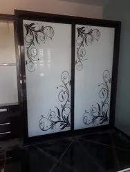White Designer Door Glass