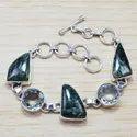 Coral Gemstone 925 Sterling Silver Jewelry Bracelet SJWBR-196