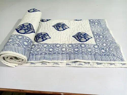 Hand Block Cotton Baby Quilt