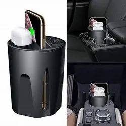 Apple Black Wireless Car Charger Cup, 10W