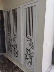 Toughened Glass Lever Handle UPVC Printed Door, 6 Mm