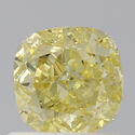 Cushion 0.90ct Fancy Yellow I1 GIA Certified Natural Diamond