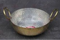 Round Hammered Brass Kadai For Cooking