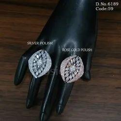 American Diamond Wedding Finger Ring