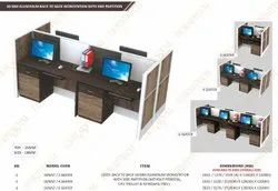 Aluminium Linear Workstation With Side Partition