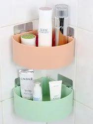 Corner Shelf Bathroom Kitchen Rack Self Adhesive Shower Caddy Plastic Wall Triangle