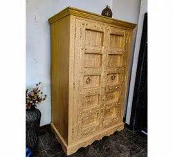 金铰链8英尺木制手工艺品衣橱,用于家庭,门数:2