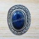 Lapis Lazuli Gemstone 925 Sterling Silver Jewelry Ring