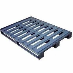 Heavy Duty Steel Pallet, For Construction, Capacity: 50-100 Kg