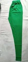 Green Ladies Cotton Lycra Leggings, Size: Free Size