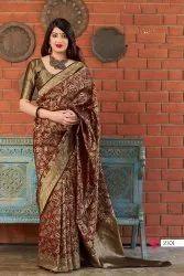 ANK Enterprise Wedding Soft Banarasi Kanchipuram Silk Saree
