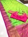 kanjivaram big border butta pure silk saree