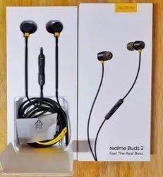 Mobile,Laptop & Tablet Black Realme Buds 2 Earphone, Headphone Jack: 3.5mm