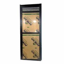 Black Powder Coated Aluminium Bathroom Door, For Home, Single